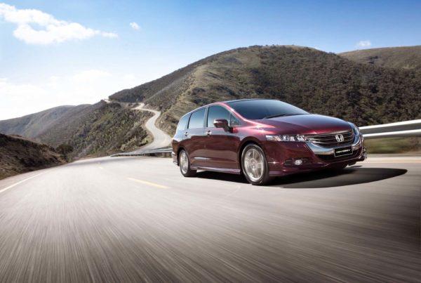 Honda Odyssey driving through mountains